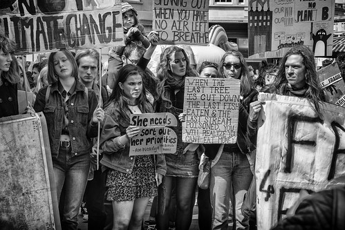Bath Youth Climate change protest