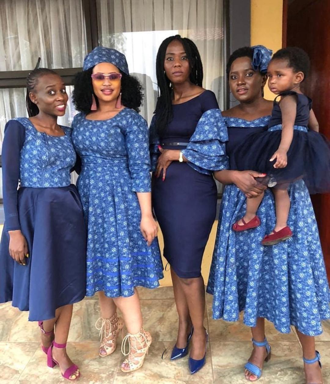 traditional style traditional shweshwe dresses for makoti