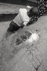Follow the footsteps. Stown town, Zanzibar.