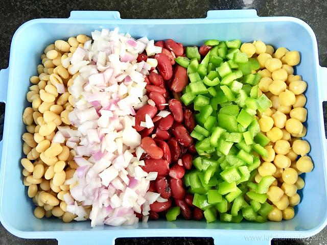 3-Bean Salad in progress