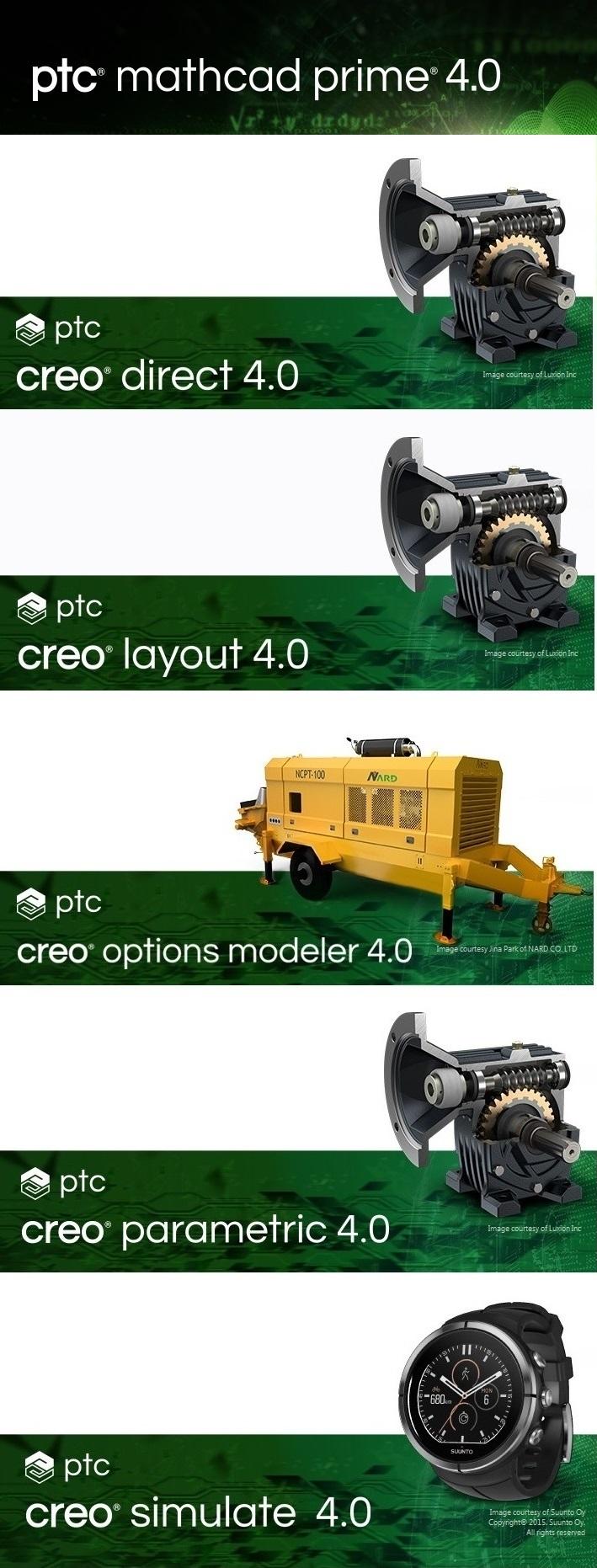 PTC Creo 4.0 M080 x64 full license