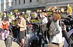Derry Girls protest
