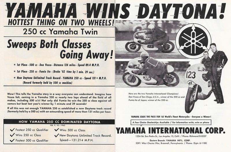Yamaha 1963 Daytona Don Vesco Fumito  Ito