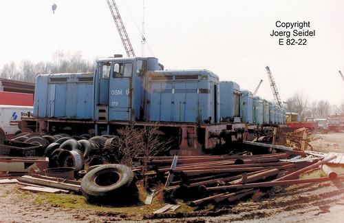 BE-3630 Maasmechelen Armand Lowie Werkspoor DSM Lokomotiven im März  1991