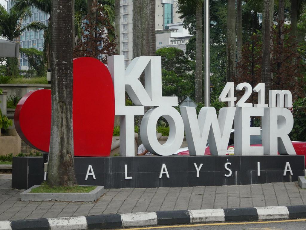 Entrance sign at the KL Menara Tower