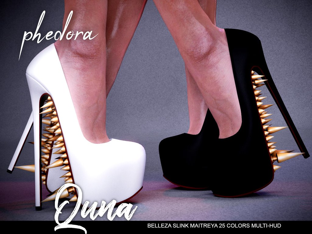 "Phedora. for FaMESHed - ""Quna"" spiked heels ♥ - TeleportHub.com Live!"
