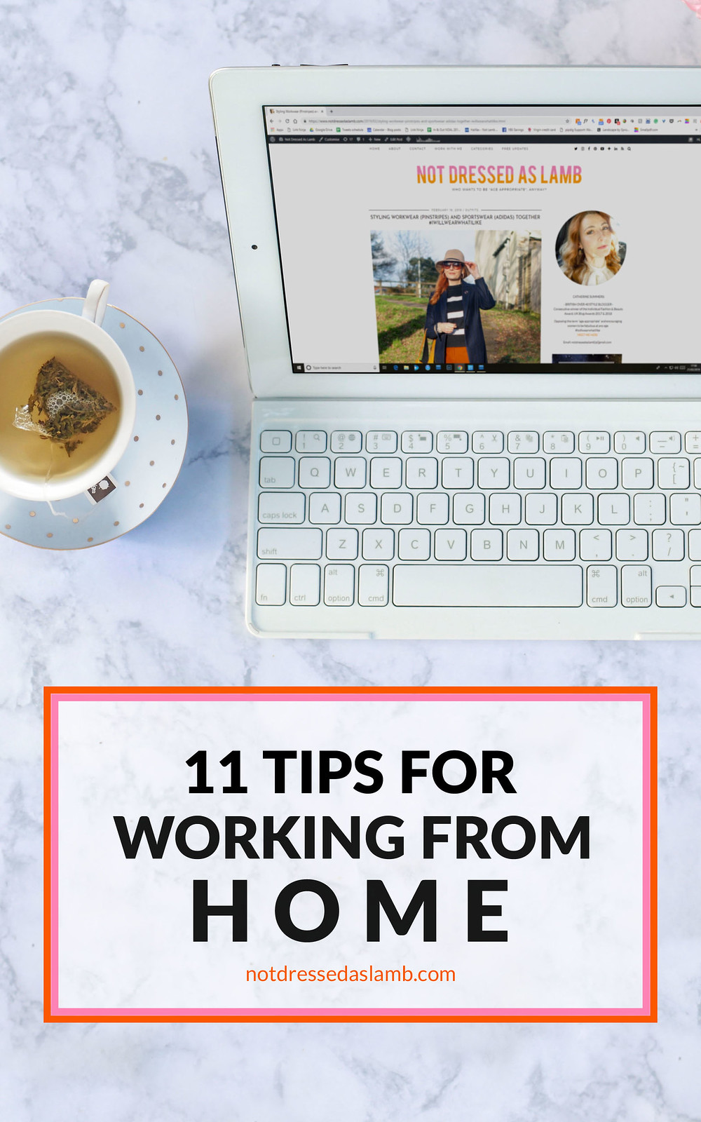 11 Tips For Working From Home by a Seasoned Full-Time Blogger | Not Dressed As Lamb