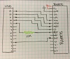 Arduino and RA8875 Wiring