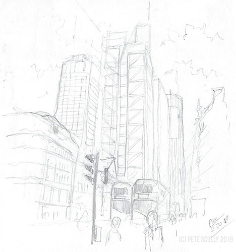 City of London in pencil | by petescully