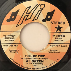 AL GREEN:FULL OF FIRE(LABEL SIDE-A)