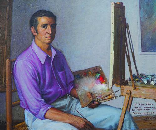 Retrato al óleo de Sánchez-Colorado por Rodriguez Andrade. Colección de Pedro Sánchez-Colorado