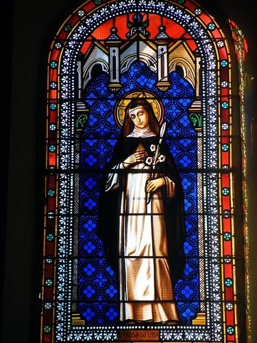20090601 060 1111 Jakobus Castetnau Kirche Fenster Rosa von Lima
