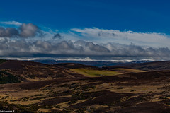 Snow closing in on the Scottish Hills.