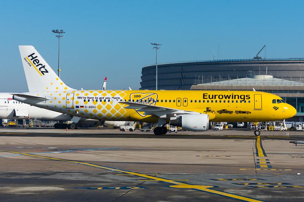 CDG | D-ABDU | Eurowings 9U from Dusseldorf