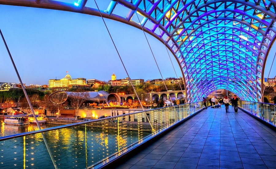 Things to do in Tbilisi Georgia: Peace Bridge