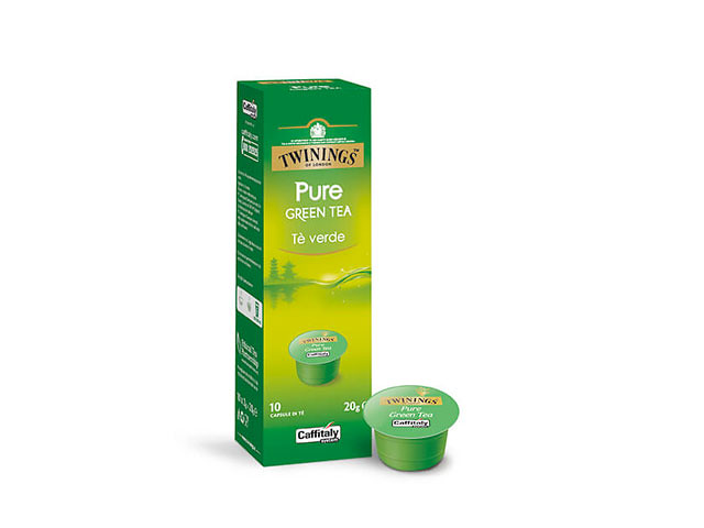 Pure Green Tea Tè Verde Twinings, capsule tè Caffitaly