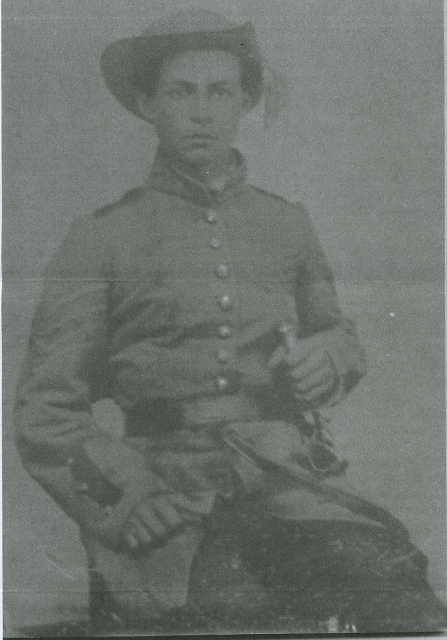 Pvt. Julius Turner Sawyer, Company C, 27th Georgia Infantry. He enlisted on 10 September 1861 in Griffin, Georgia and was killed at the Battle of Olustee, Florida on 20 February 1864.