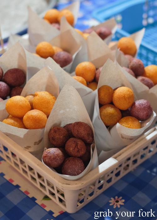 Sweet potato balls at Build Market in Khao Lak,Thailand