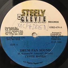 REGGIE STEPPER:DRUM PAN SOUND(LABEL SIDE-A)