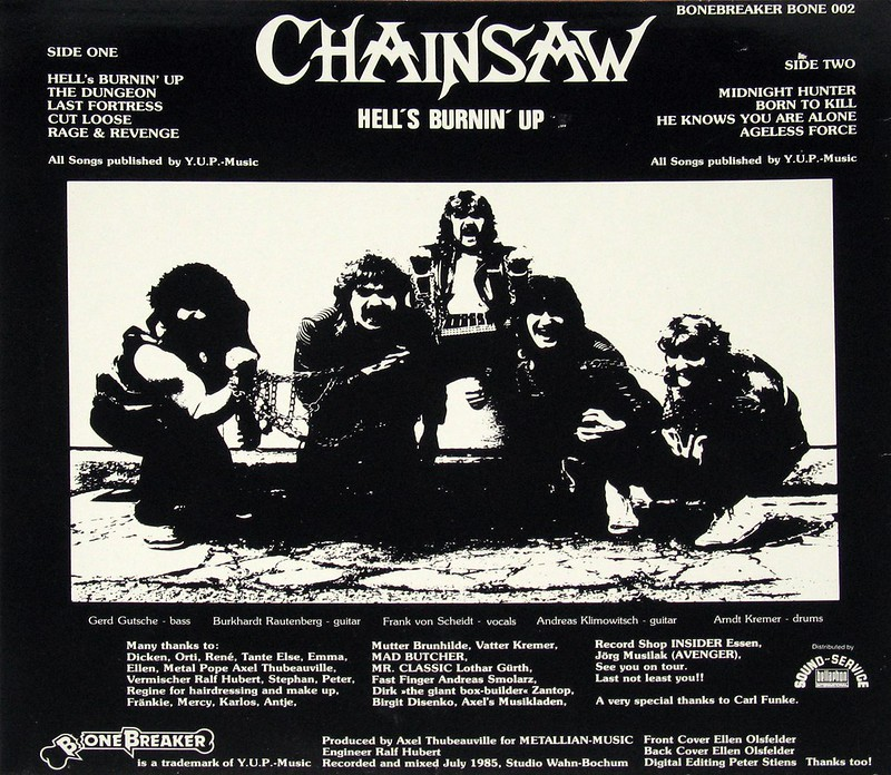 "CHAINSAW HELL'S BURNIN UP 12"" VINYL LP"