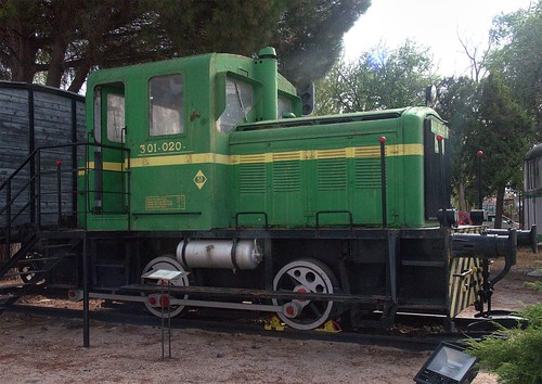RENFE 0-4-0 diesel shunter No. 301-020 at Alcázar de San Juan Railway Museum on 20 Oct 2018