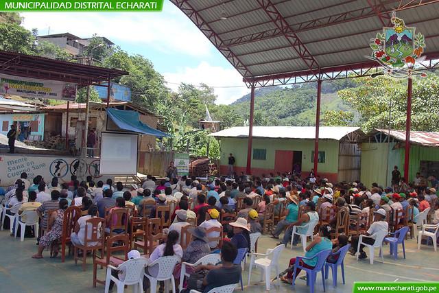 Multitudinaria participación del Centro Poblado de Kepashiato en el taller del Presupuesto Participativo