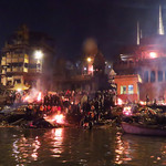 Burning Ghats at Varanasi by Bill Wastell