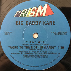 BIG DADDY KANE:RAW(LABEL SIDE-A)