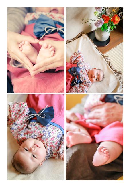 お食い初め(100日祝い) 赤ちゃんの足でハート