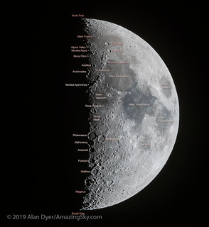 The Seven Day Old Moon (with Labels) | by Amazing Sky Photography