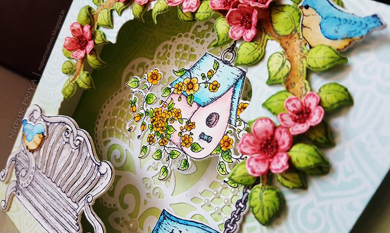 Cherry Blossom Box Card 8_Nupur Creatives