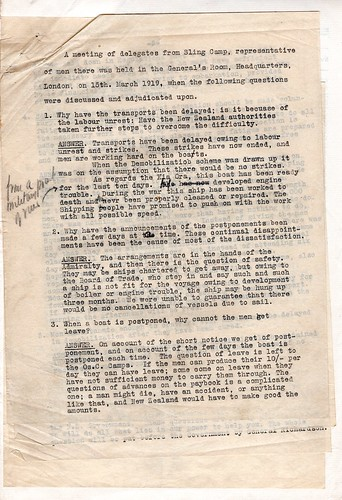 Riot at Sling Camp, March 1919 - Demands of the delegates | by Archives New Zealand