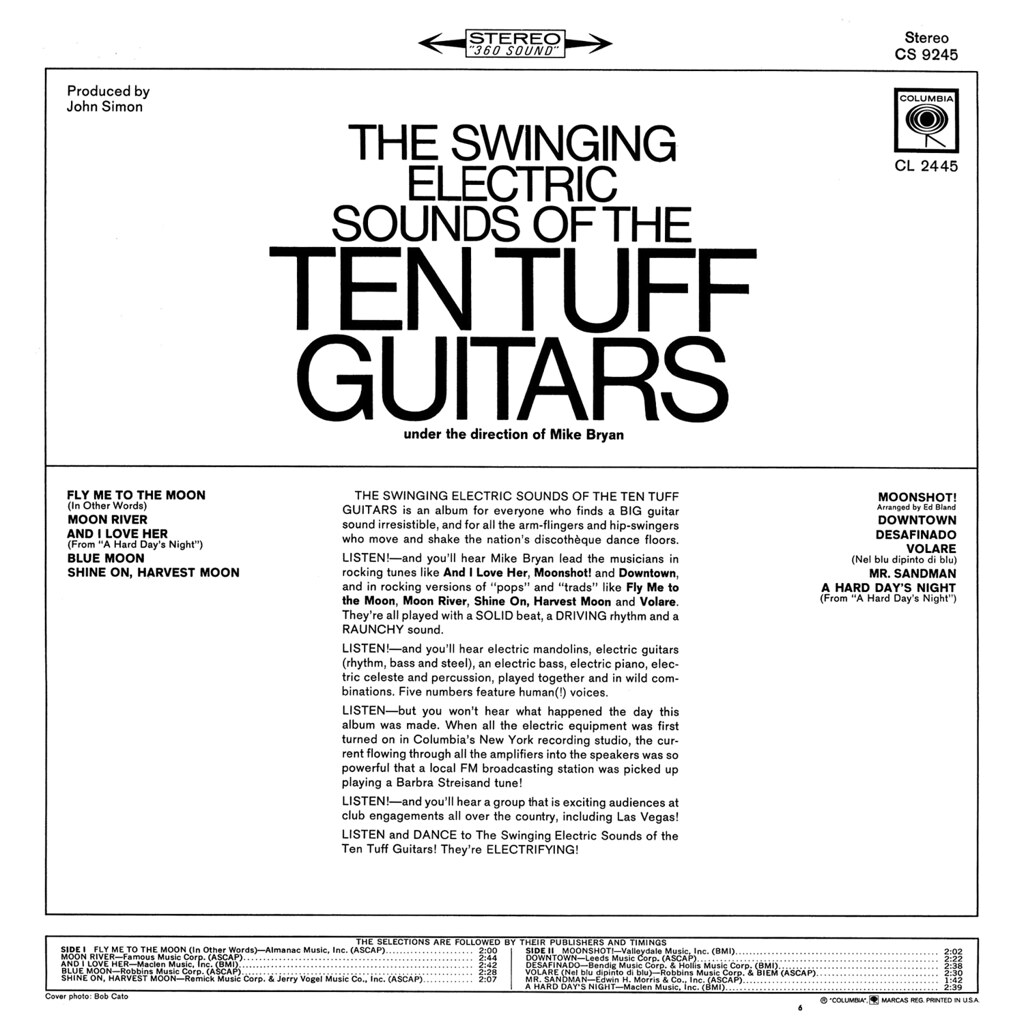 The Ten Tuff Guitars ‎– The Swinging Electric Sounds