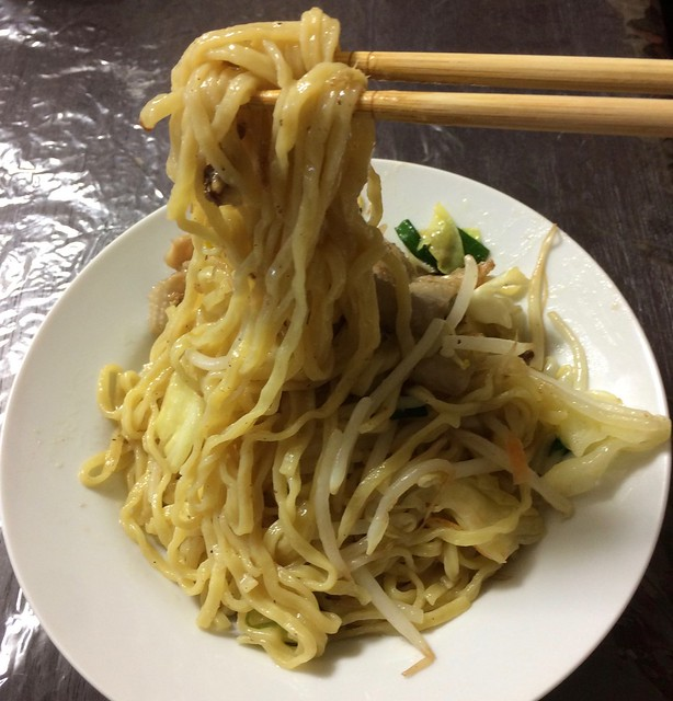 Ramen without soup made of chicken skin chicken oil
