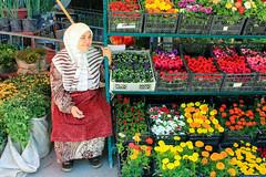 Flower market in Tashkent, Uzbekistan