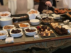 The typically amazing spread for breakfast at a European hotel