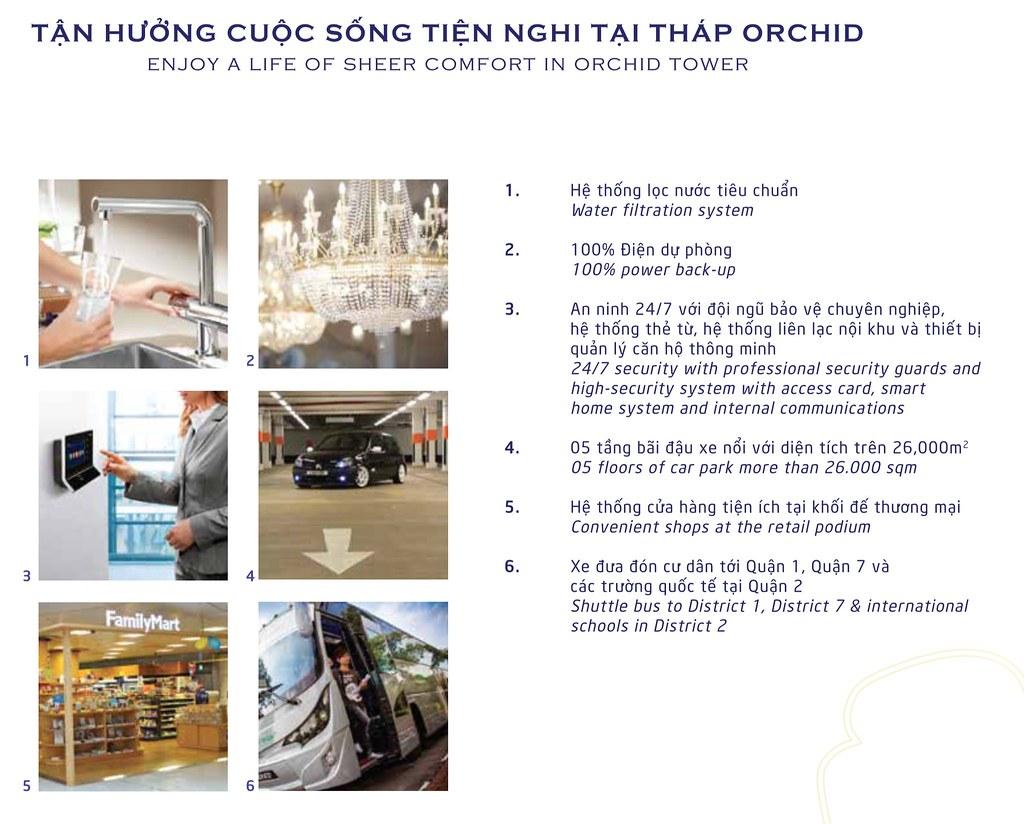 tiện nghi tháp Orchid