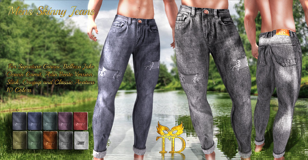 99L$ ^TD^ Mens Skinny Jeans [FATPACK]