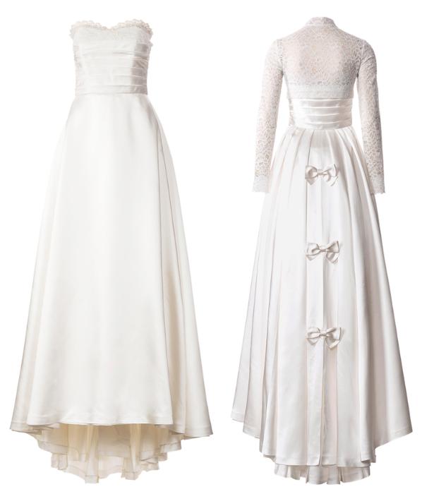 Retro Wedding Dress Pattern