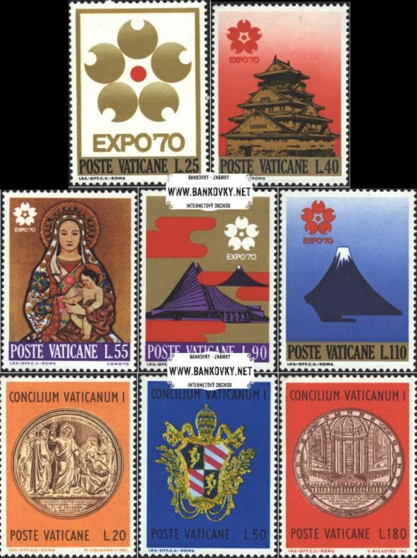 Známky Vatikán 1970 Výstava a Koncil, neraz. série