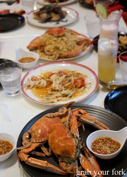 All you can eat prawn and crab buffet at Mojo Restaurant Sydney