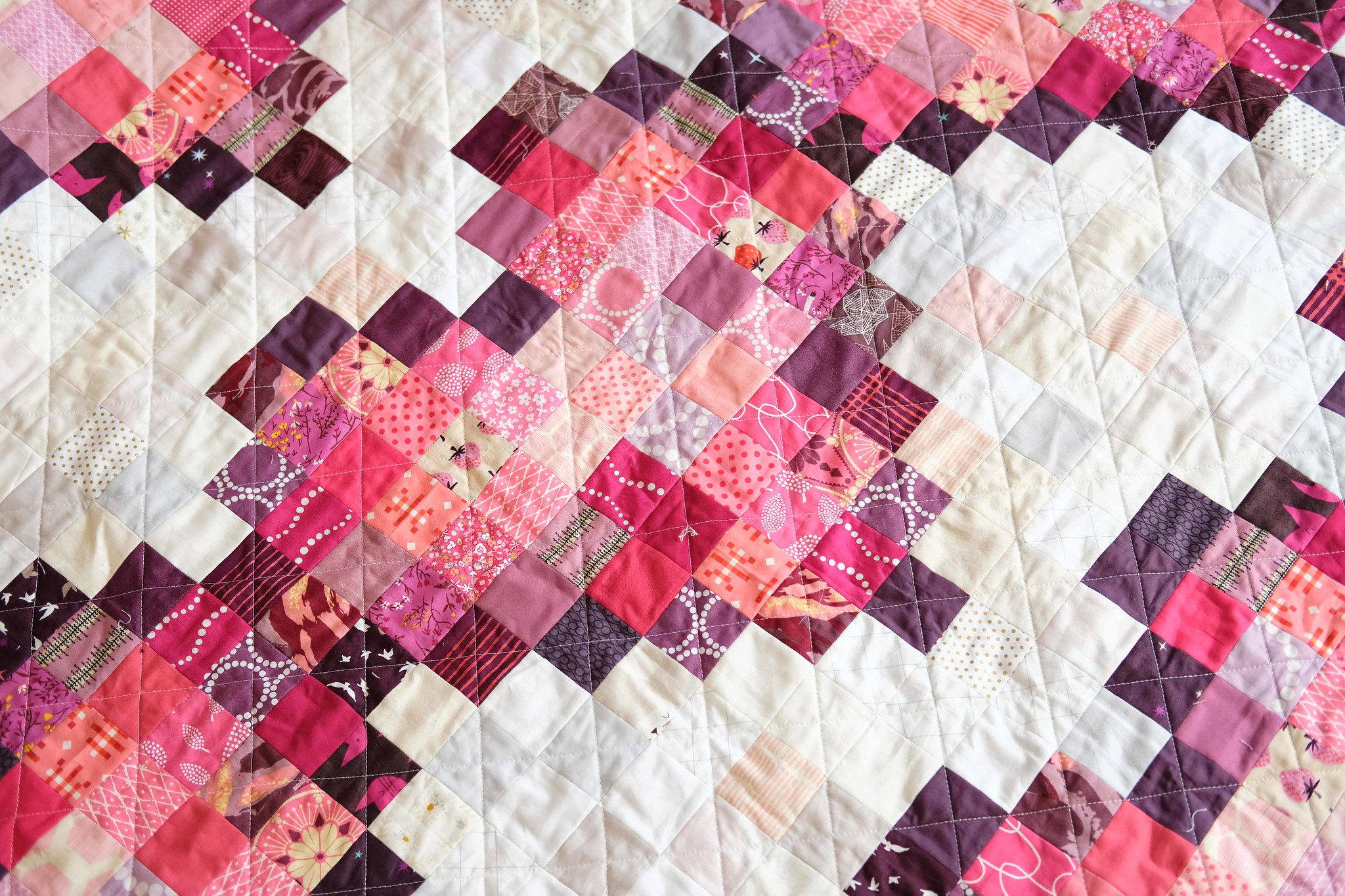 Pixel Love Scrap Quilt