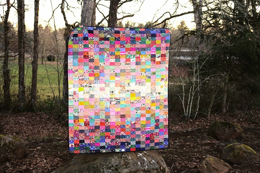 All the Rectangles Scrap Quilt