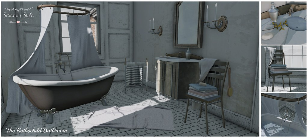 Serenity Style- The Rothschild Bathroom Gacha Ad