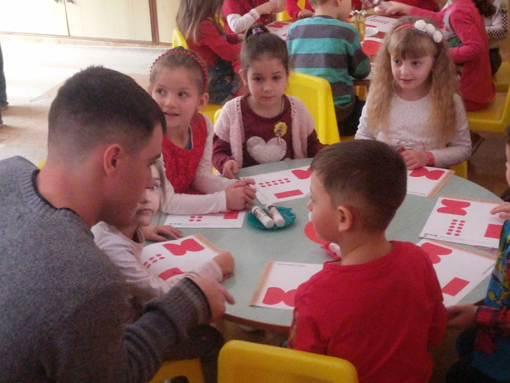 U.S. Military Service Members Visit Kindergarten in Sliven