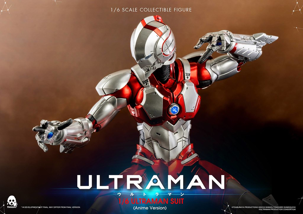threezero《ULTRAMAN 超人力霸王》ULTRAMAN SUIT(動畫版)1/6 比例人偶作品