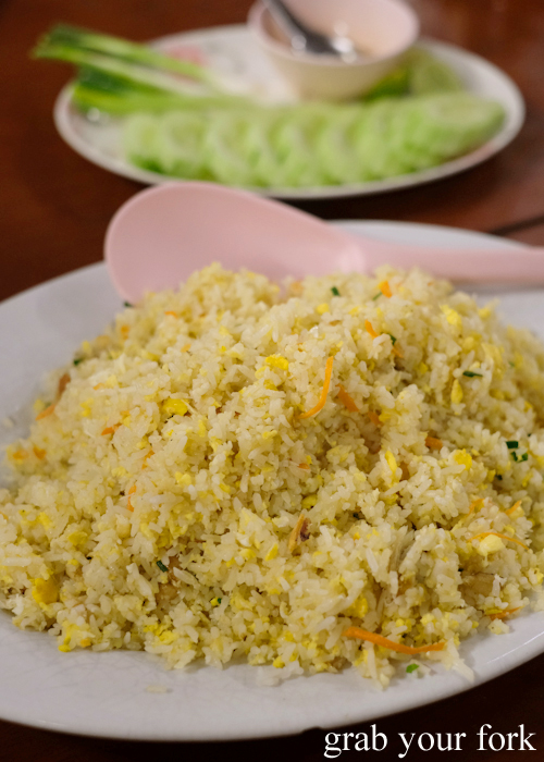 Crab fried rice at Baan Khao Lak Seafood Restaurant in Thailand