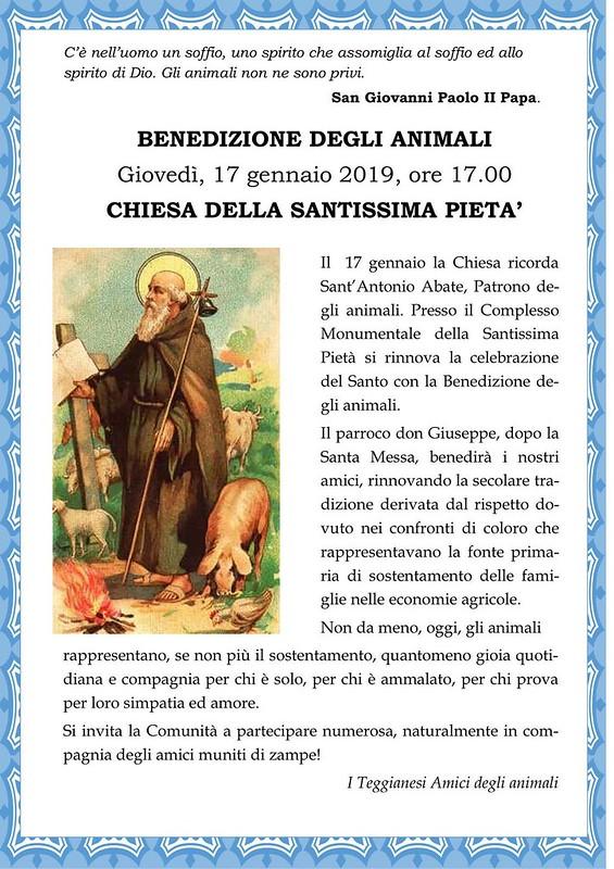 benedizione animali teggiano