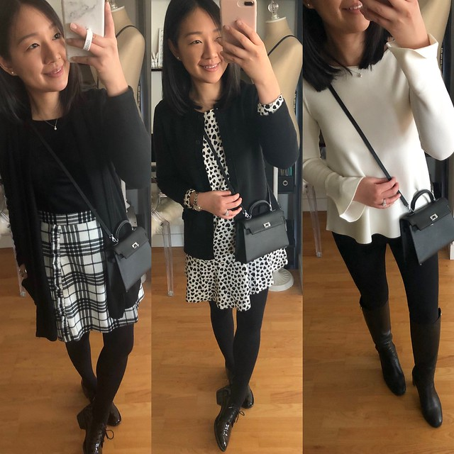Black & White Outfits for Work