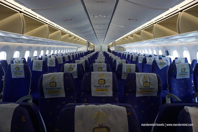 Seats at Scoot Boeing 787 Dreamliner